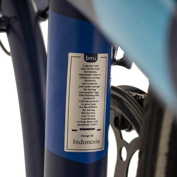 Element Ecosmo 8 Speed Biru (Blue) (Seat tube)
